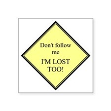 "2-10x10 ImLostToo Square Sticker 3"" x 3"""
