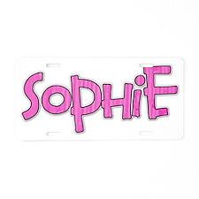 karenc_sophie Aluminum License Plate