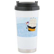 2-Naval Ship at Sea 5x7 Travel Mug