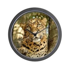 LeopardCheetaro013 Wall Clock