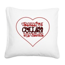obsessive Square Canvas Pillow