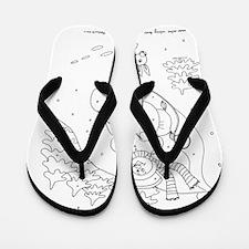 snowman_sleigh_cp Flip Flops