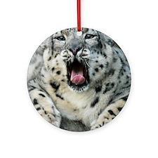 SnowLeopardBCR007 Round Ornament