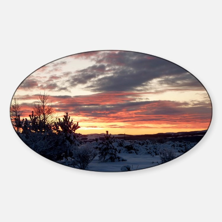 Winter sunset at Kintore Decal