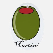 Martinis Oval Ornament