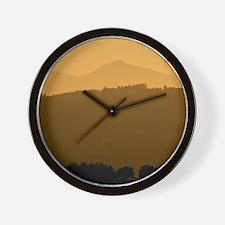 Bennachie at sunset Wall Clock