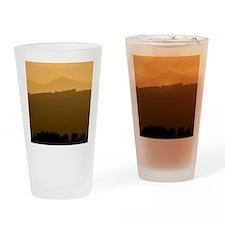 Bennachie at sunset Drinking Glass