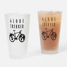 bike globeREDO4white Drinking Glass
