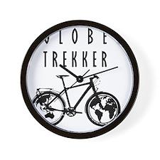 bike globeREDO4white Wall Clock