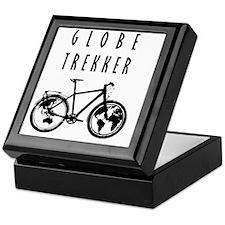 bike globeREDO4white Keepsake Box