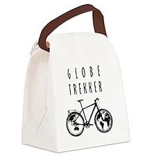 bike globeREDO4white Canvas Lunch Bag