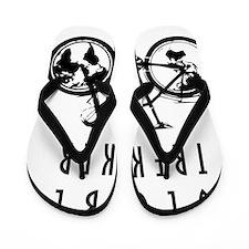 bike globeREDO4white Flip Flops