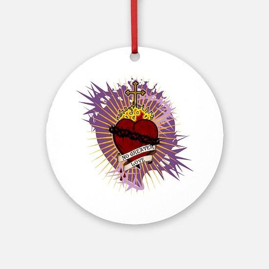 SacredHeartInkCP Round Ornament