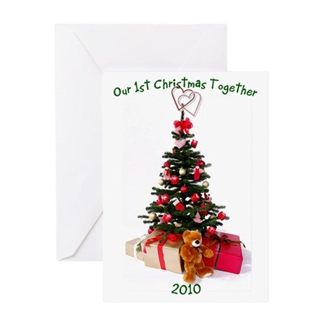 1st christmas together Greeting Card