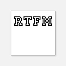 "rtfm Square Sticker 3"" x 3"""