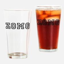 zomg Drinking Glass