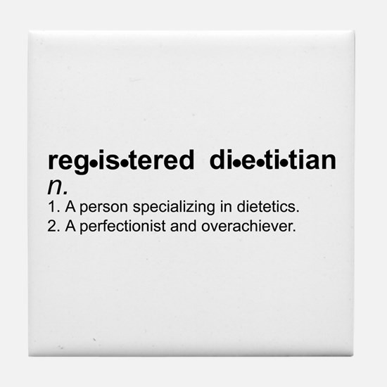 Registered Dietitian Tile Coaster