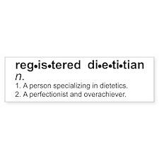 Registered Dietitian Bumper Car Sticker