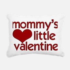 Mommys Little Valentine Rectangular Canvas Pillow