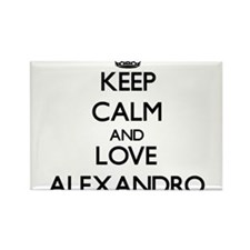 Keep Calm and Love Alexandro Magnets
