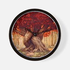 The Enchanted Tree Wall Clock