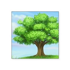 "greenest tree Square Sticker 3"" x 3"""