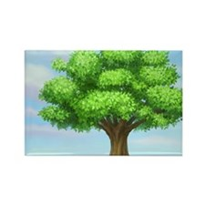 greenest tree Rectangle Magnet