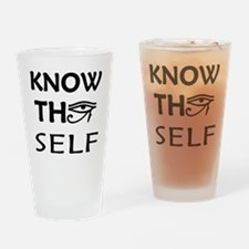 KNOW THY SELF Drinking Glass