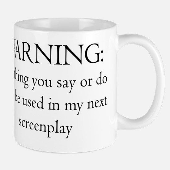 2-ScrWarningscreenplay10x10 Mug