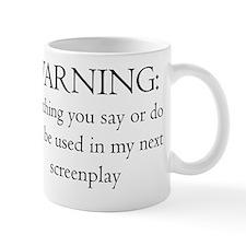 2-ScrWarningscreenplay10x10 Small Mug