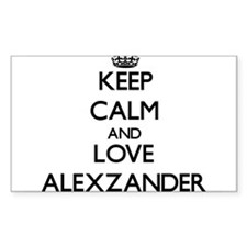 Keep Calm and Love Alexzander Decal