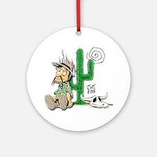 lost-dutchman-cactus Round Ornament