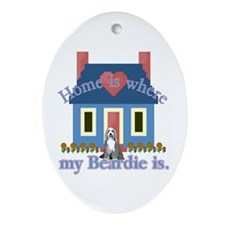 Bearded Collie Home Oval Ornament