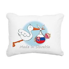 stork baby slov white Rectangular Canvas Pillow