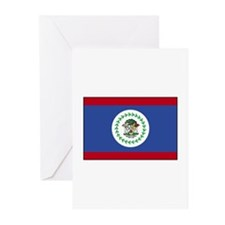Belize Flag Greeting Cards (Pk of 10)