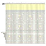 Cute Star Pattern Shower Curtain