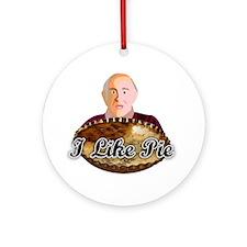 3-pie shirt Round Ornament