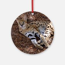 serval 024 Round Ornament