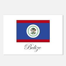 Belize - Flag Postcards (Package of 8)