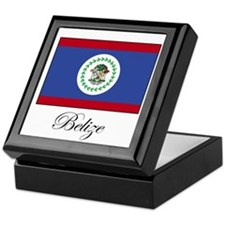 Belize - Flag Keepsake Box