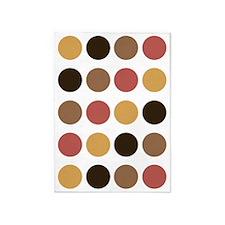Polka Dots (Autumn) 5'X7'area Rug