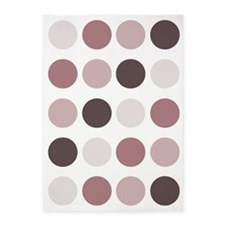 Polka Dots (Red) 5'X7'area Rug