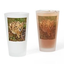 serval 043 Drinking Glass