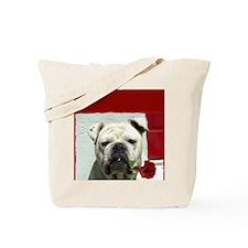 I Love you bulldog card Tote Bag