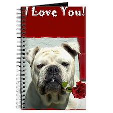 I Love you bulldog card Journal