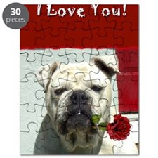 I Love you bulldog card Puzzle