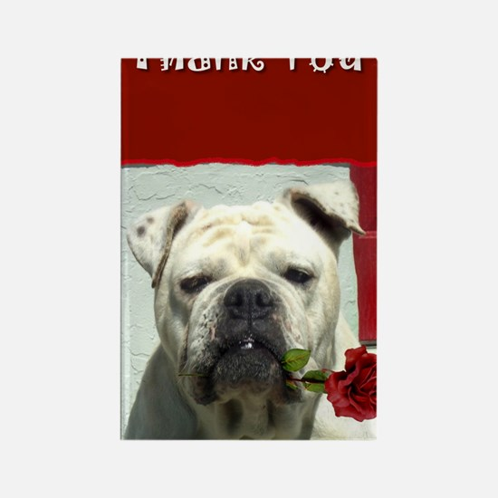 Thank you bulldog Rectangle Magnet