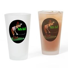300helloballgolf copy Drinking Glass