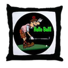 300helloballgolf copy Throw Pillow