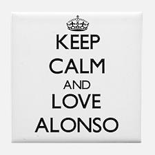 Keep Calm and Love Alonso Tile Coaster
